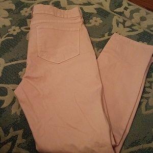 Clarissa NYDJ Pastel pink ankle jean